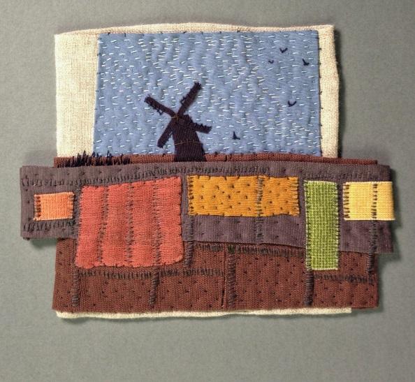 little windmill - found fabric