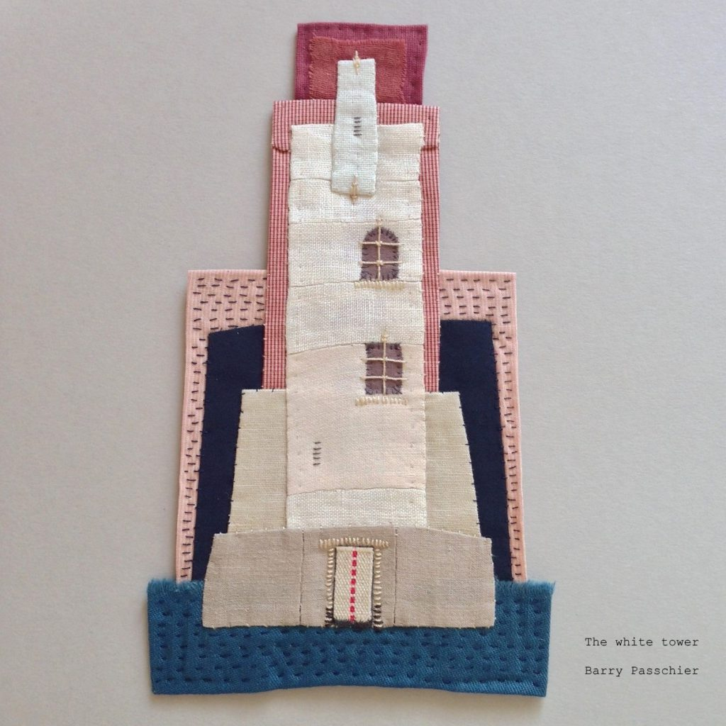 the white tower - found fabric
