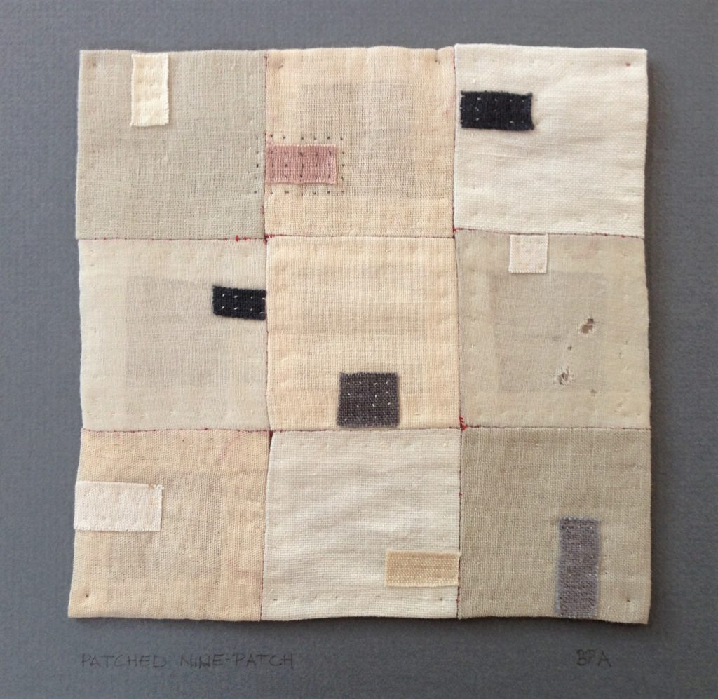 patched nine-patch - found fabric