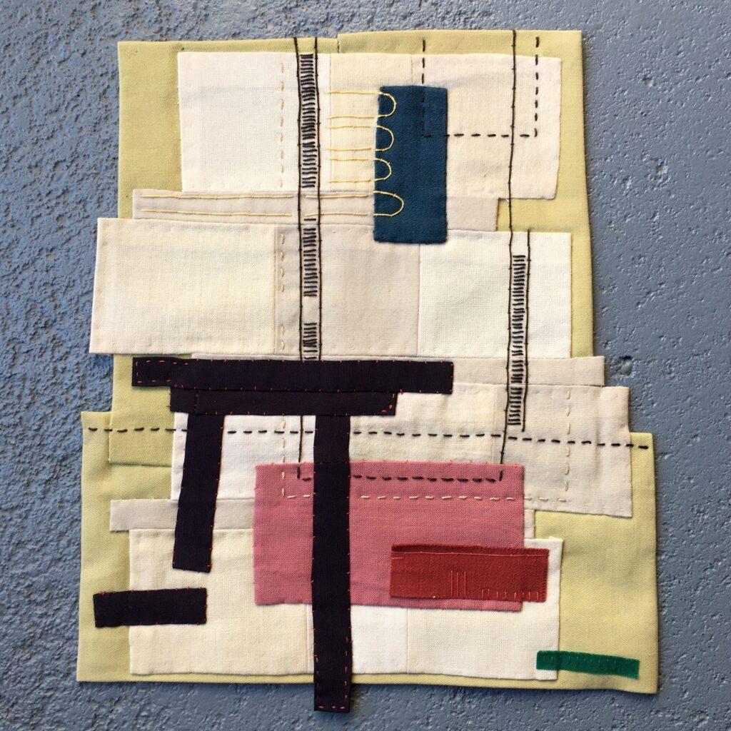 broken table - found fabric